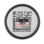 Uterine Cancer Persevere Large Wall Clock