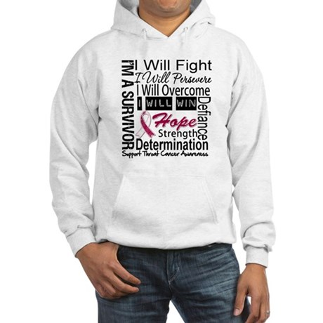 Throat Cancer Persevere Hooded Sweatshirt