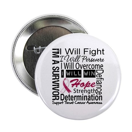 """Throat Cancer Persevere 2.25"""" Button"""