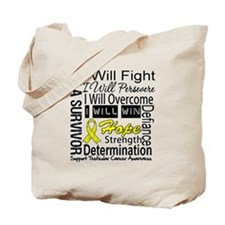 Testicular Cancer Persevere Tote Bag