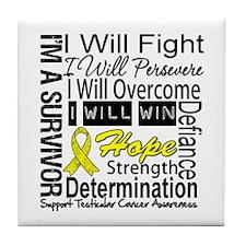 Testicular Cancer Persevere Tile Coaster
