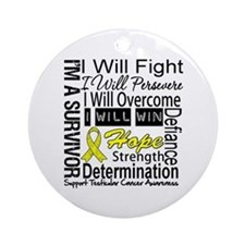 Testicular Cancer Persevere Ornament (Round)