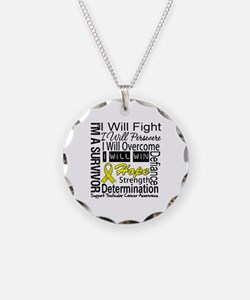 Testicular Cancer Persevere Necklace Circle Charm