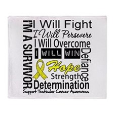 Testicular Cancer Persevere Throw Blanket