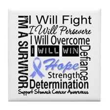 Stomach Cancer Persevere Tile Coaster