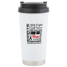 Skin Cancer Persevere Travel Mug