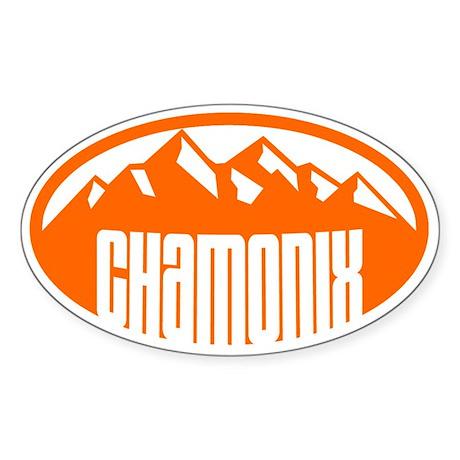 Chamonix Sticker (Oval)