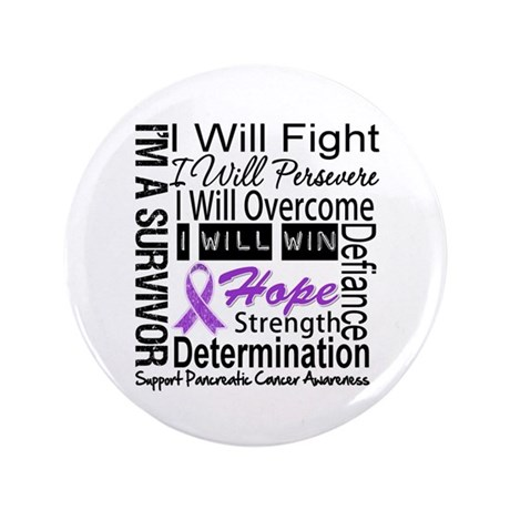 "Pancreatic Cancer Persevere 3.5"" Button"