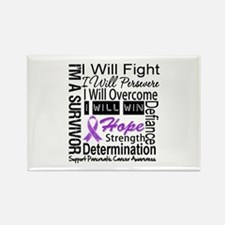 Pancreatic Cancer Persevere Rectangle Magnet