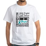 Ovarian Cancer Persevere Shirts White T-Shirt
