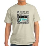 Ovarian Cancer Persevere Shirts Light T-Shirt