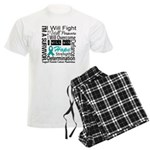 Ovarian Cancer Persevere Shirts Men's Light Pajama