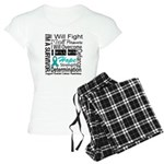 Ovarian Cancer Persevere Shirts Women's Light Paja