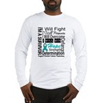 Ovarian Cancer Persevere Shirts Long Sleeve T-Shir