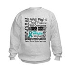 Ovarian Cancer Persevere Shirts Kids Sweatshirt