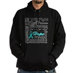 Ovarian Cancer Persevere Shirts Hoodie (dark)