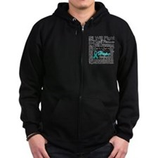 Ovarian Cancer Persevere Shirts Zip Hoody