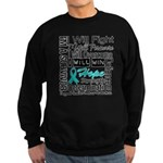 Ovarian Cancer Persevere Shirts Sweatshirt (dark)