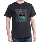 Ovarian Cancer Persevere Shirts Dark T-Shirt