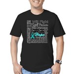 Ovarian Cancer Persevere Shirts Men's Fitted T-Shi