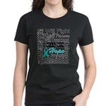 Ovarian Cancer Persevere Shirts Women's Dark T-Shi