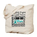 Ovarian Cancer Persevere Shirts Tote Bag