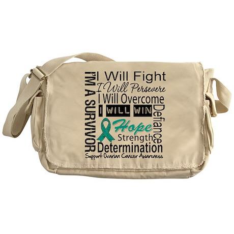 Ovarian Cancer Persevere Shirts Messenger Bag