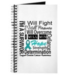 Ovarian Cancer Persevere Shirts Journal
