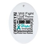Ovarian Cancer Persevere Shirts Ornament (Oval)