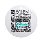 Ovarian Cancer Persevere Shirts Ornament (Round)