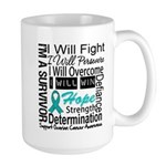 Ovarian Cancer Persevere Shirts Large Mug