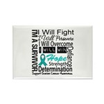 Ovarian Cancer Persevere Shirts Rectangle Magnet (