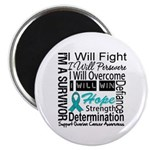 Ovarian Cancer Persevere Shirts Magnet
