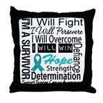 Ovarian Cancer Persevere Shirts Throw Pillow