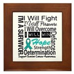 Ovarian Cancer Persevere Shirts Framed Tile