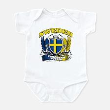 Sweden European fotboll 2012 Infant Bodysuit