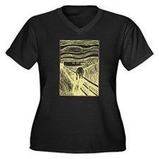 Edvard Munch The Scream Women's Plus Size V-Neck D