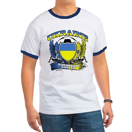 Ukraine Football Soccer Ringer T