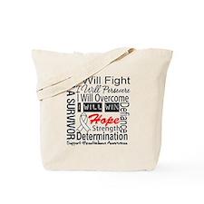 Mesothelioma Persevere Tote Bag