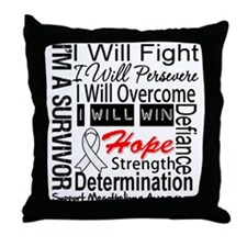 Mesothelioma Persevere Throw Pillow
