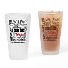 Mesothelioma Persevere Drinking Glass