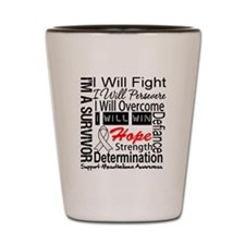 Mesothelioma Persevere Shot Glass