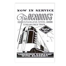 Reading Crusader Streamliner Postcards (Package o