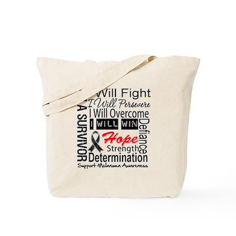 Melanoma Cancer Persevere Shirts Tote Bag