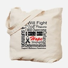 Melanoma Cancer Persevere Shirts Tote Bag
