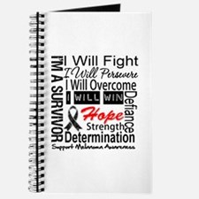 Melanoma Cancer Persevere Shirts Journal