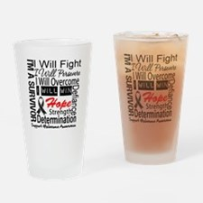Melanoma Cancer Persevere Shirts Drinking Glass