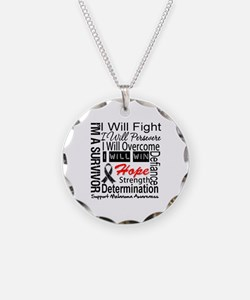 Melanoma Cancer Persevere Shirts Necklace