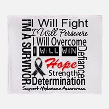 Melanoma Cancer Persevere Shirts Throw Blanket