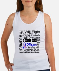 Male Breast Cancer Persevere Women's Tank Top